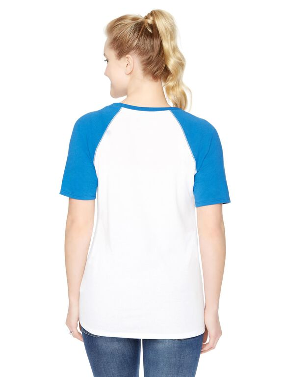 Chicago Cubs MLB Elbow Sleeve Maternity Graphic Tee, Cubs