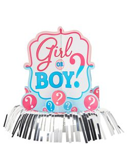 Girl or Boy Gender Reveal Centerpieces, Pink/Blue