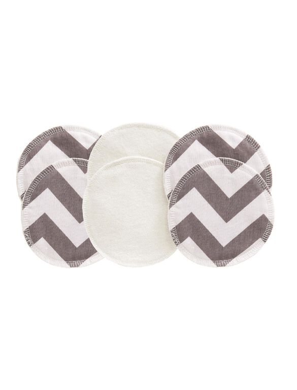 Glitzy Gals Washing Nursing Pads by Itzy Ritzy, Grey Chevron