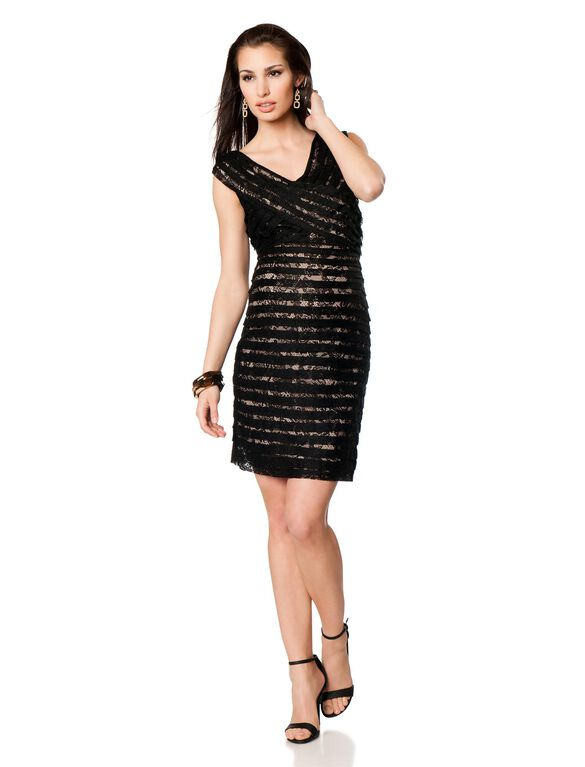 Lace Maternity Dress, Black