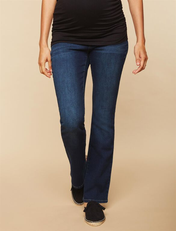 Tall Secret Fit Belly Stretch Boot Cut Maternity Jeans, Dark Wash