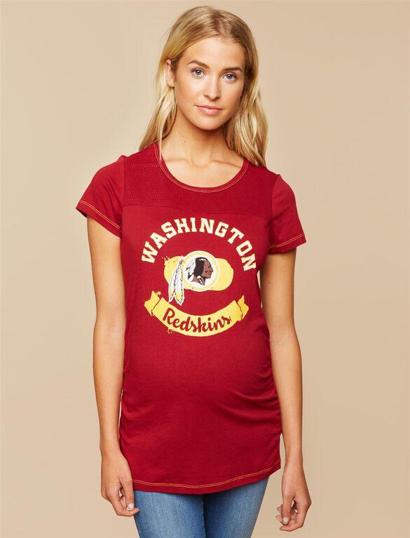 Washington Redskins NFL Mesh Detail Maternity Tee, Redskins