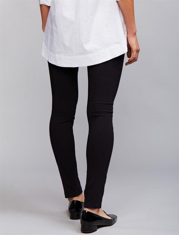 Soon Straight Leg Maternity Ankle Pants, Black