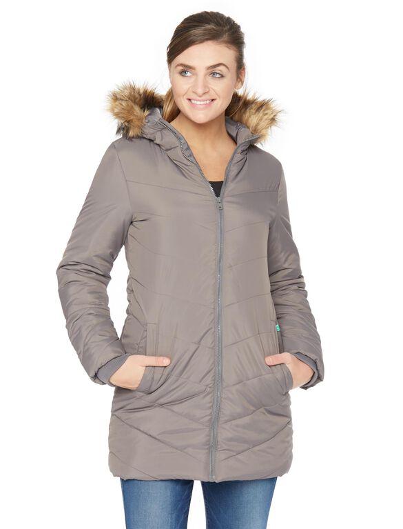 Modern Eternity 3 In 1 Maternity Puffer Coat, Grey