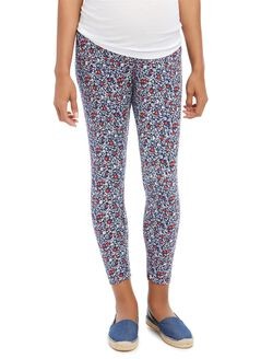 Secret Fit Belly Printed Maternity Leggings, Americana Floral
