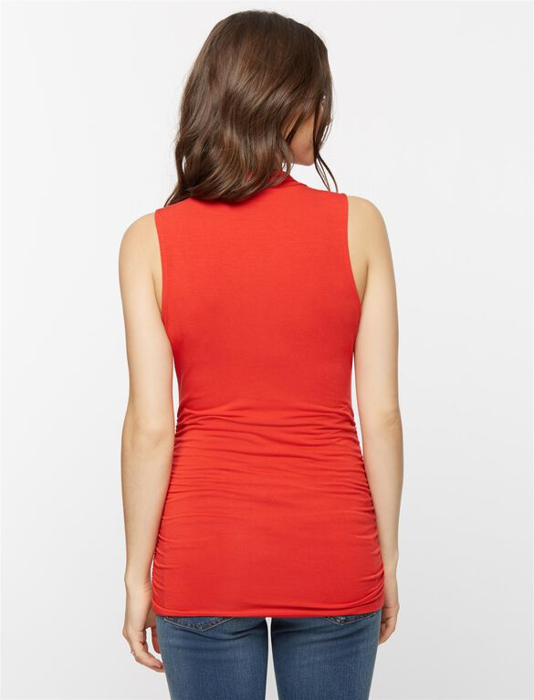 Ruched Maternity Tank Top, Ablaze