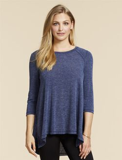 Jessica Simpson Pull Over Nursing Top- Navy, Navy