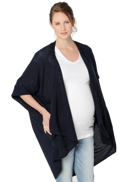 Drop Shoulder Maternity Cardigan, Midnight