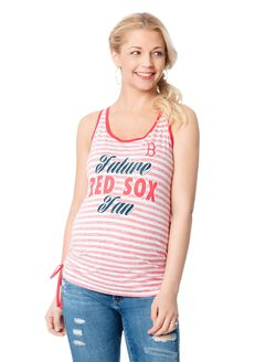 Boston Red Sox MLB Maternity Graphic Tank Top, Red Sox