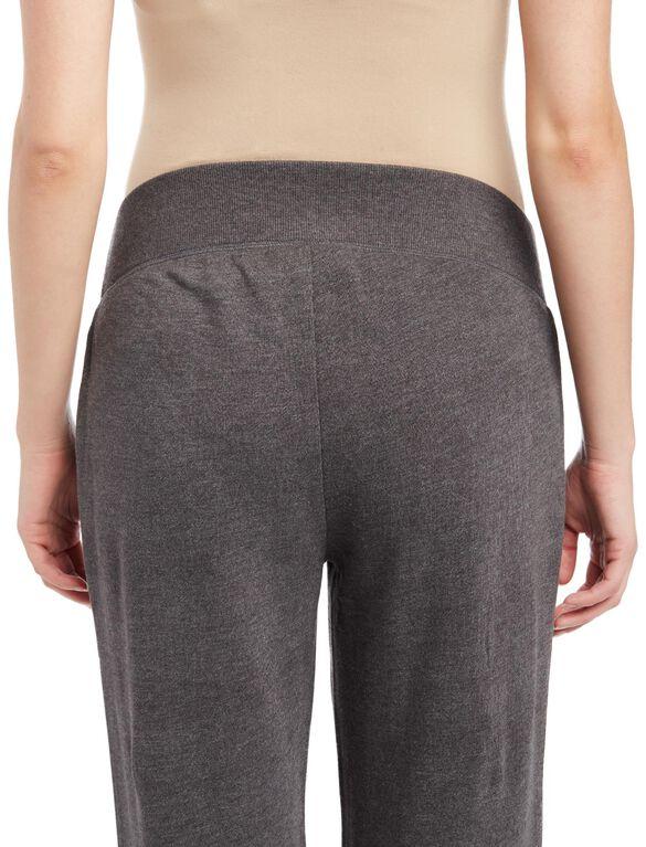 Under Belly Fleece Boot Cut Maternity Lounge Pants, Grey