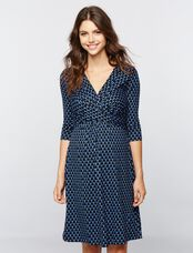 Seraphine Kelly Maternity Dress, Blue Bubble Print