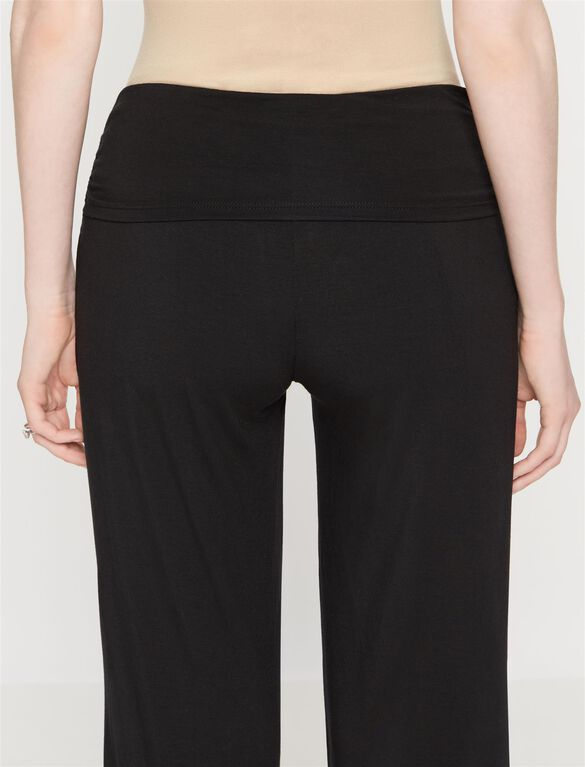 Under Belly Wide Leg Maternity Lounge Pants, Black