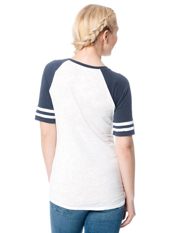 New York Yankees MLB Raglan Sleeve Maternity Tee, Yankees