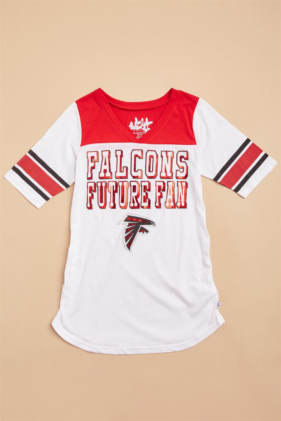 Atlanta Falcons NFL Elbow Sleeve Maternity Tee at Motherhood Maternity in Victor, NY | Tuggl