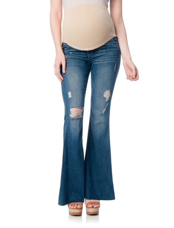 Mcguire Secret Fit Belly Skinny Flare Maternity Jeans, Oceana Medium Wash