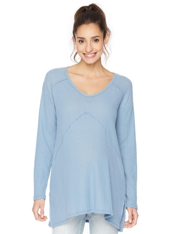Relaxed Fit Maternity Tunic, Dusty Blue