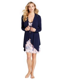 Jessica Simpson Pull Over Wrap Nursing Cardigan, Navy