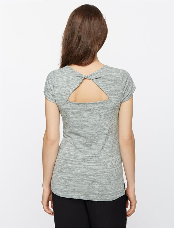 Back Interest Maternity T Shirt, Seafoam Green