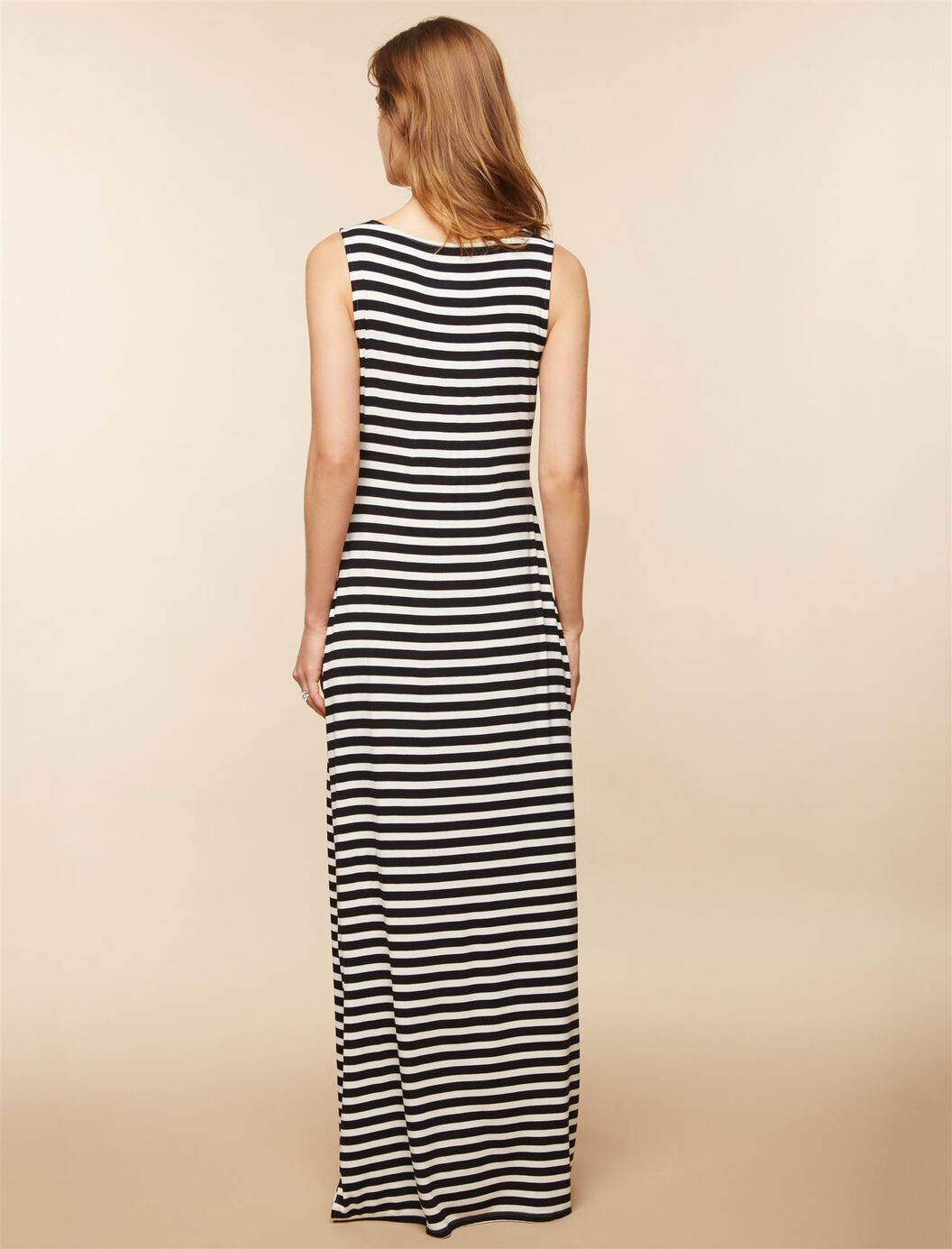 The dress access -  Side Access Knot Front Nursing Dress Black White Print