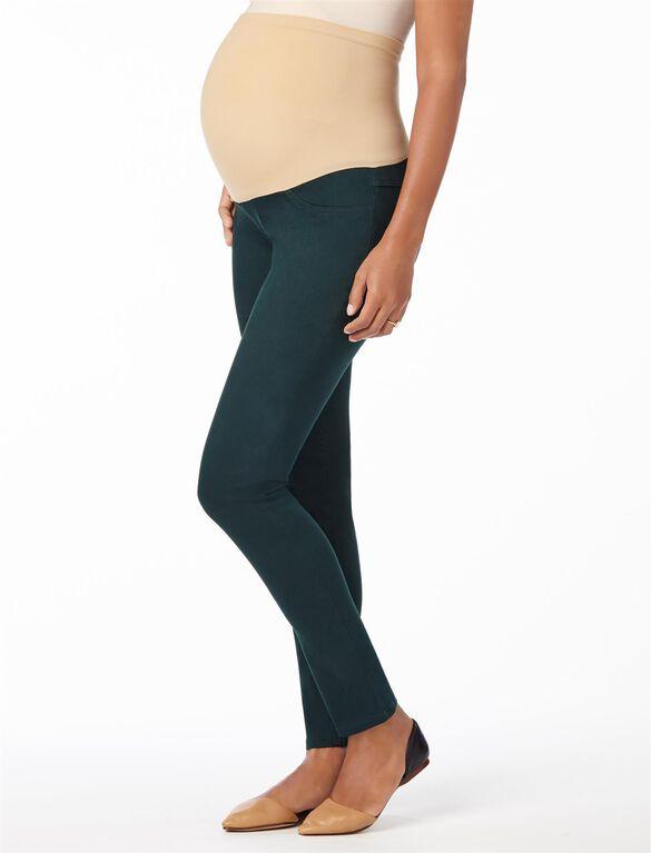 Secret Fit Belly Sateen Skinny Maternity Pants, Everest Green