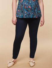 Plus Size Secret Fit Belly Skinny Maternity Jeans- Dark, Twilight Dark Wash
