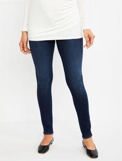 J Brand Under Belly Mama J Super Skinny Maternity Jeans- Fleeting, Dark Wash
