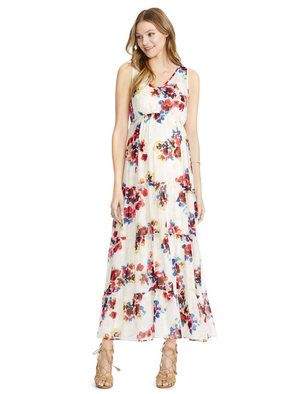 Jessica simpson empire waist floral maternity maxi dress jessica simpson empire waist floral maternity maxi dress watercolor floral ombrellifo Image collections