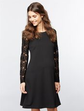 Pietro Brunelli Lace Maternity Dress, Black