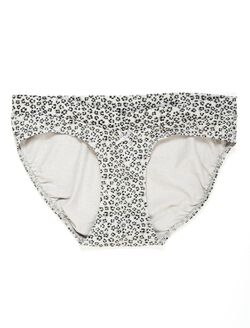 Bow Detail Hipster Maternity Panty (single), Animal Print Blk/Gry