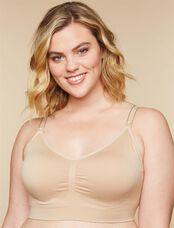 Plus Size Seamless Clip Down Nursing Bra, Nude