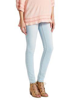 Jessica Simpson Secret Fit Belly Skinny Leg Maternity Jeans, Light Wash