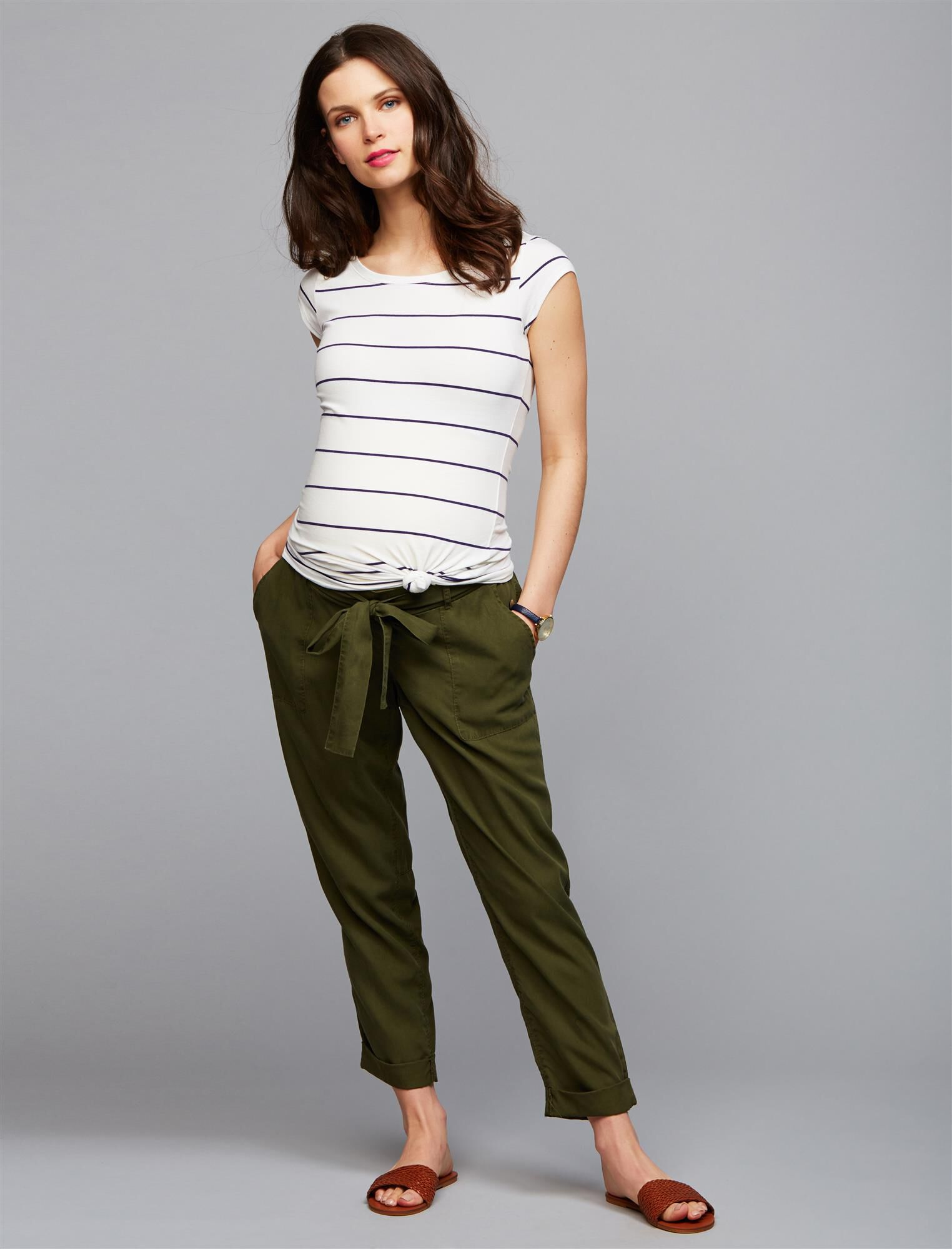 Under Belly Skinny Leg Maternity Crop Pants