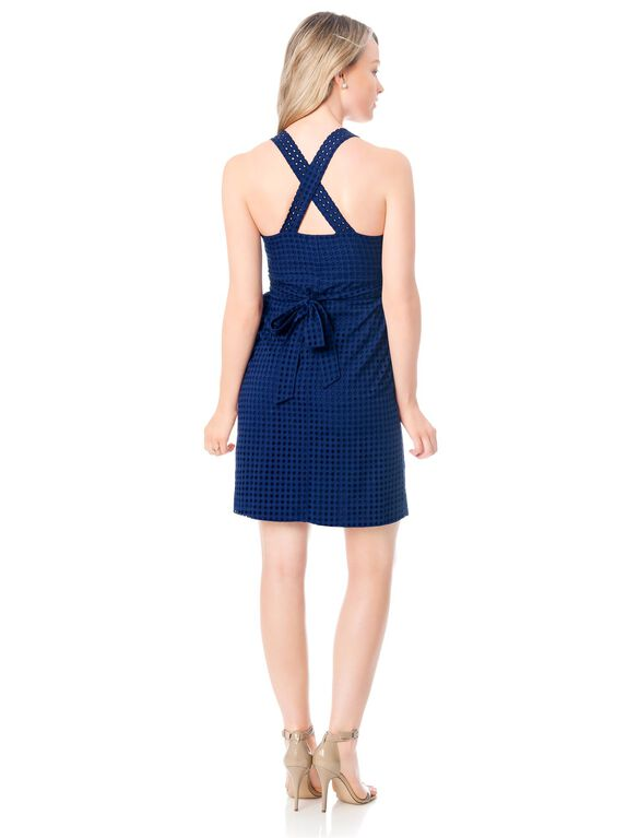 Back Interest Maternity Dress, Navy