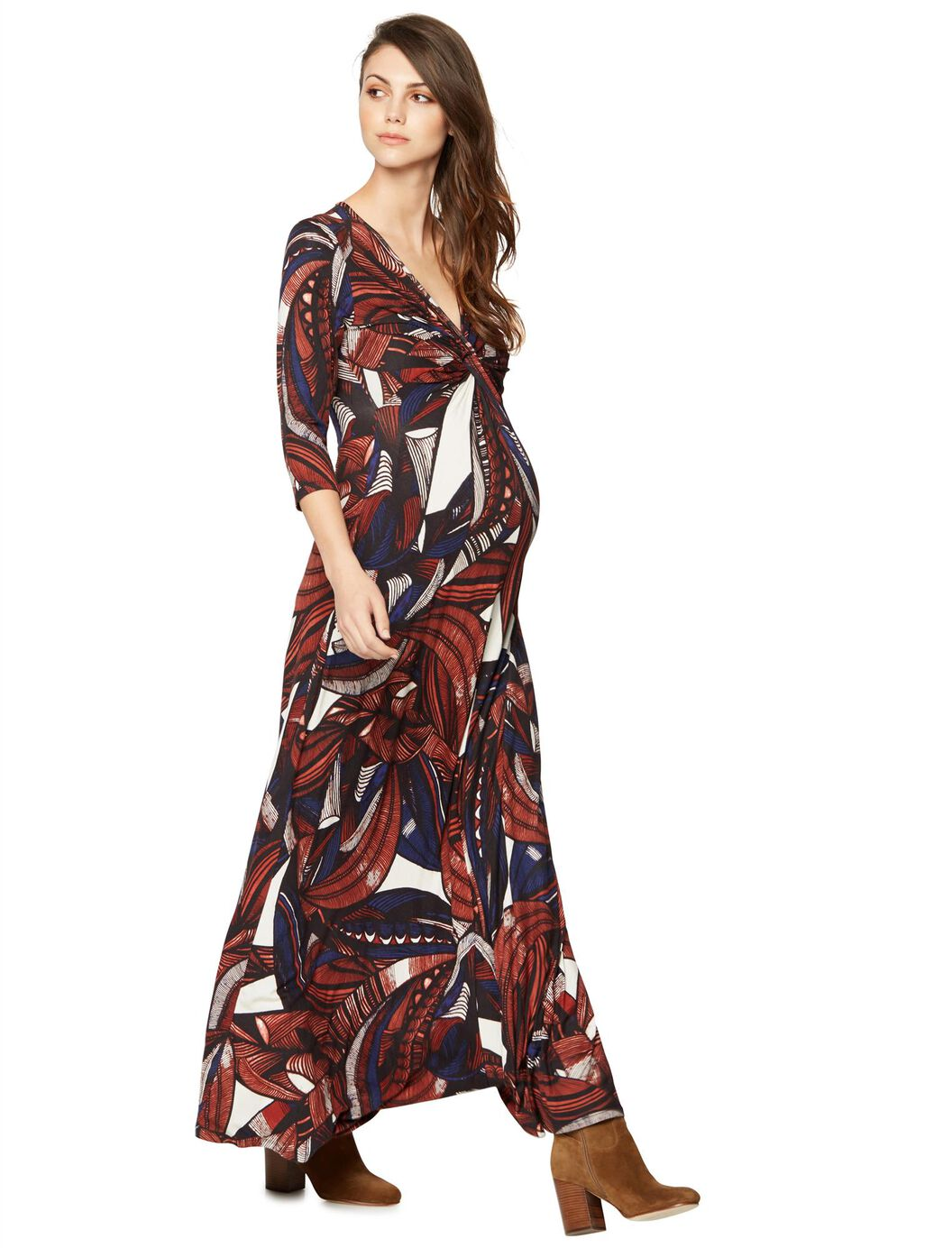 Vneck mod print maternity maxi dress a pea in the pod maternity vneck mod print maternity maxi dress multi print ombrellifo Gallery