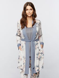 Floral Maternity Robe, Floral Print