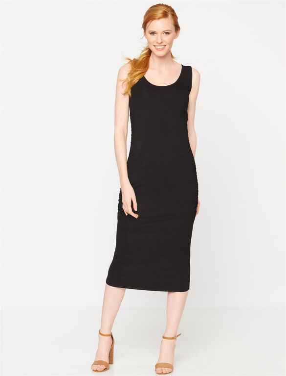 Isabella Oliver Ellis Maternity Tank Dress, Black