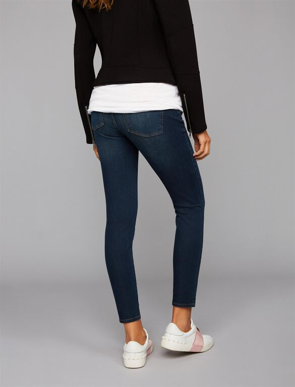Luxe Essentials Denim Secret Fit Belly Ankle Maternity Jeggings, Dark Rinse