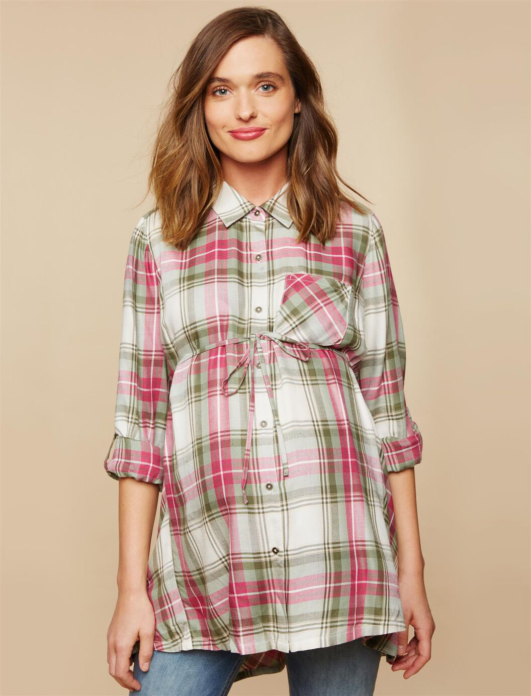 High-low Hem Maternity Tunic at Motherhood Maternity in Victor, NY | Tuggl