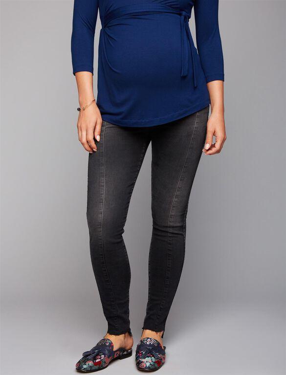 Ag Secret Fit Belly Skinny Leg Maternity Jeans, Black Denim