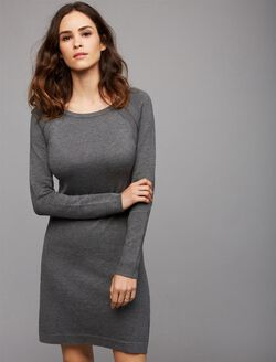 Ripe Zip Detail Nursing Dress, Grey