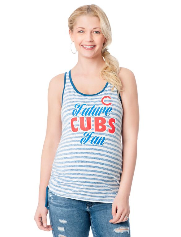 Chicago Cubs Mlb Short Sleeve Maternity Graphic Tee, Cubs