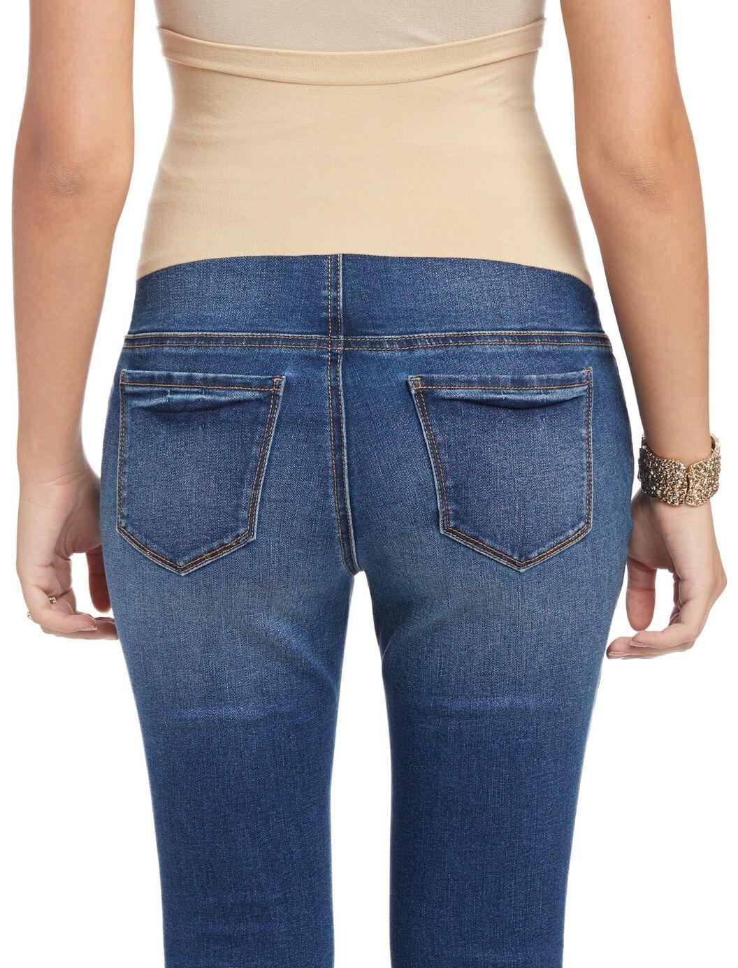 ... Indigo Blue Secret Fit Belly Flare Maternity Jeans, Medium Wash - Indigo Blue Secret Fit Belly Flare Maternity Jeans Motherhood