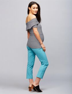 Secret Fit Belly Straight Ankle Maternity Pants, Tranquil Turq