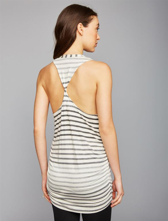 Beyond The Bump Striped Maternity Tank Top, OMBRE STRIPE