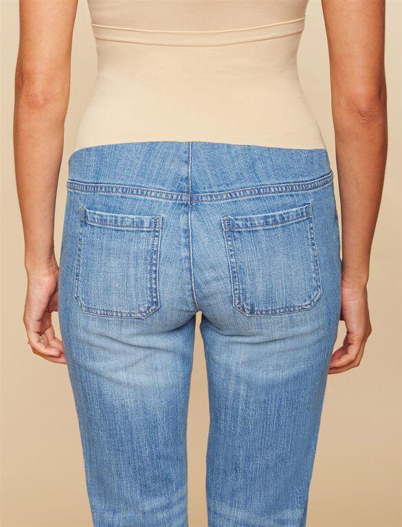 Secret Fit Belly Boyfriend Maternity Jeans, MEDIUM WASH