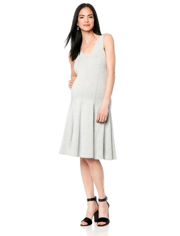 Bailey 44 Fit And Flare Maternity Dress, Grey