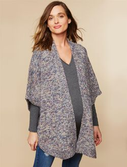 Relaxed Fit Maternity Sweater, Blue Multi