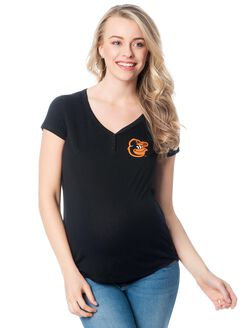 Baltimore Orioles MLB Vneck Maternity Graphic Tee, Orioles