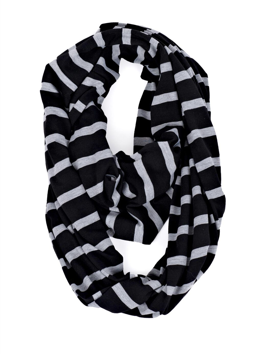 Itzy Ritzy Nursing Scarf- Grey/Black Stripe at Motherhood Maternity in Victor, NY | Tuggl