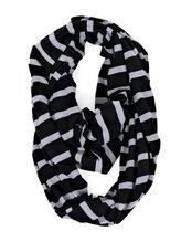 Itzy Ritzy Nursing Scarf- Grey/Black Stripe, Black/Grey Stripe